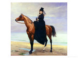 Equestrian Portrait of Mademoiselle Croizette, 1873 Giclee Print by Charles Émile Carolus-Duran