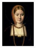 Porträtt av en kvinna, möjligen Catherine av Aragon (1485–1536), ca 1503/4 Gicléetryck av Michiel Sittow