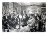 The Quartet or the Musical Evening at the House of Amaury Duval, 1881 Premium Giclee Print by Léon Augustin L'hermitte