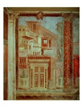 Panel from Cubiculum from the Bedroom of the Villa of P Fannius at Boscoreale, Pompeii, C.50-40 BC Premium Giclee Print by  Roman