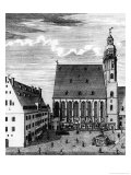 St. Thomas Church and School in Leipzig, 1723 Giclee Print by Johann Gottfried Krugner