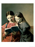 The Artist's Two Youngest Sisters, 1826 Giclee Print by Constantin Hansen