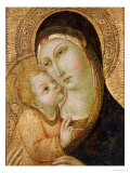 La Sainte Vierge et l&#39;Enfant Reproduction proc&#233;d&#233; gicl&#233;e par Sano di Pietro 