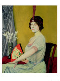The Japanese Fan, 1914 Giclee Print by William Strang