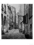 Rue Basse Des Ursins, Paris, 1858-78 Premium Giclee Print by Charles Marville