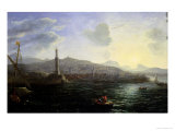 Claude Lorrain - The Port of Genoa, Sea View - Giclee Baskı