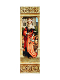 St. Elizabeth of Hungary (1207-31) Right Hand Panel from the Triptych of St. Sebastian, 1516 Giclee Print by Hans Holbein the Elder