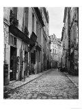 Straat in Parijs, Rue Du Jardinet vanuit de Passage Hautefeuille, 1858-1878 Gicléedruk van Charles Marville