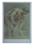 Figure of a Warrior, Partly Draped Giclee Print by Giovanni Battista Cipriani