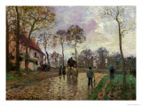The Coach to Louveciennes, 1870 Giclee Print by Camille Pissarro