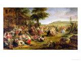 The Kermesse, circa 1635-38 Giclée-Druck von Peter Paul Rubens