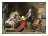 Isaac Blessing Jacob, 1692 Giclee Print by Jean-Baptiste Jouvenet