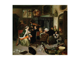 The Dissolute Household, 1668 Giclee Print by Jan Havicksz. Steen