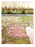 Plan of the Town of La Rochelle, 1736 Giclee Print