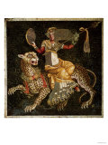 Mosaic of Dionysus Riding a Leopard circa 180 AD Giclee Print