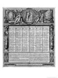 Republican Calendar, 22nd September 1793 Giclee Print by Francois Maria Isidore Queverdo