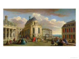 View of the Chapel of the Chateau De Versailles from the Courtyard Giclee Print by Jacques Rigaud
