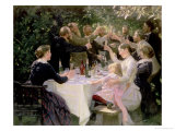 Hip Hip Hurrah! Artists&#39; Party at Skagen, 1888 Giclee Print by Peder Severin Kr&#246;yer