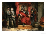 Macbeth Instructing the Murderers Employed to Kill Banquo Giclee Print by George Cattermole