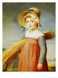 The Little Gleaner, 1824 Giclee Print by Christophe-Thomas Degeorge