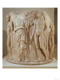 Column Drum from Temple of Artemis, Ephesus of a Female Figure, Perhaps a Tragic Heroine Giclee Print