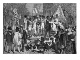 "A Slave Auction in Richmond, from ""Le Globe Illustre,"" 1862 Giclee Print by Edmond Morin"