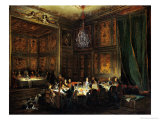 Dinner of the Prince of Conti (1717-76) in the Temple, 1766 Giclee Print by Michel Barth&#233;l&#233;my Ollivier
