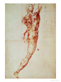 Nude, Study for the Battle of Cascina Giclee Print by Michelangelo Buonarroti