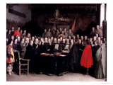The Swearing of the Oath of Ratification of the Treaty of Munster, 1648 Lámina giclée por Gerard Terborch