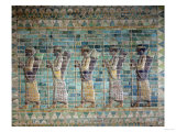 Frieze of Archers, from the Palace of Darius the Great (548-486 BC) at Susa, Iran Achaemenid Period Giclee Print