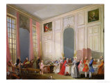 The English Tea (Le the a L&#39;Anglaise) and a Society Concert at the House of the Princesse De Conti Giclee Print by Michel Barth&#233;l&#233;my Ollivier