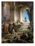Napoleon Bonaparte (1769-1821) in the Grand Mosque at Cairo Giclee Print by Henri Levy