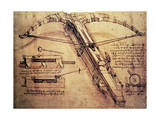 Giant Catapult, circa 1499 Premium Giclee Print by  Leonardo da Vinci