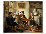 Cottage Interior Giclee Print by Adriaen de Lelie