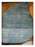 The Rosetta Stone, from Fort St. Julien, El-Rashid (Rosetta) 196 BC Giclee Print