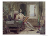 Don Quixote in His Study Giclee Print by George Cattermole