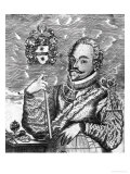 Portrait of Sir Francis Drake (circa 1540-96) Giclee Print by Robert Vaughan