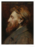 Portrait of Auguste Rodin (1840-1917) 1881 Giclee Print by Francois Flameng