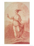 A Young Woman Walking Bare-Footed in a Landscape Giclee Print by Giovanni Battista Cipriani