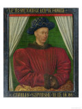 Portrait of Charles VII, King of France, circa 1445-50 Giclee Print by Jean Fouquet