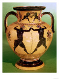 Black-Figure Neck Amphora, Depicting Boxers and Wrestlers, by Nidosthenes, circa 550-525 BC Giclee Print