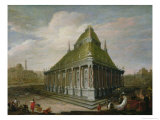 The Seven Wonders of the World: the Mausoleum at Halicarnassus Giclee Print by Wilhelm van Ehrenberg