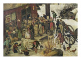 The Census at Bethlehem, Detail of the Tax Office Giclee Print by Pieter Bruegel the Elder