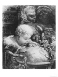 "Education of Gargantua, Illustration from ""Gargantua"" by Francois Rabelais (1494-1553) Giclee Print by Gustave Doré"