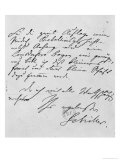 Page of Text with His Signature Giclee Print by Friedrich Schiller