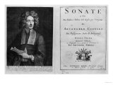 "Titlepage of ""Sonate a Tre"" with a Portrait of Arcangelo Corelli (1653-1713) Giclee Print"