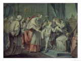 Richard, Duke of York, Taking Leave of His Mother, Elizabeth Woodville, Westminster Giclee Print by Giovanni Battista Cipriani