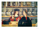 Interior of a Pharmacy, Detail of the Shopkeeper Weighing Produce Giclee Print