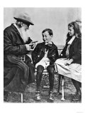 Portrait of Lev Nikolaevich Tolstoy (1828-1910) with His Grandchildren Giclee Print