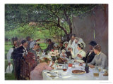 The Wedding Meal at Yport, 1886 Giclee Print by Albert-Auguste Fourie